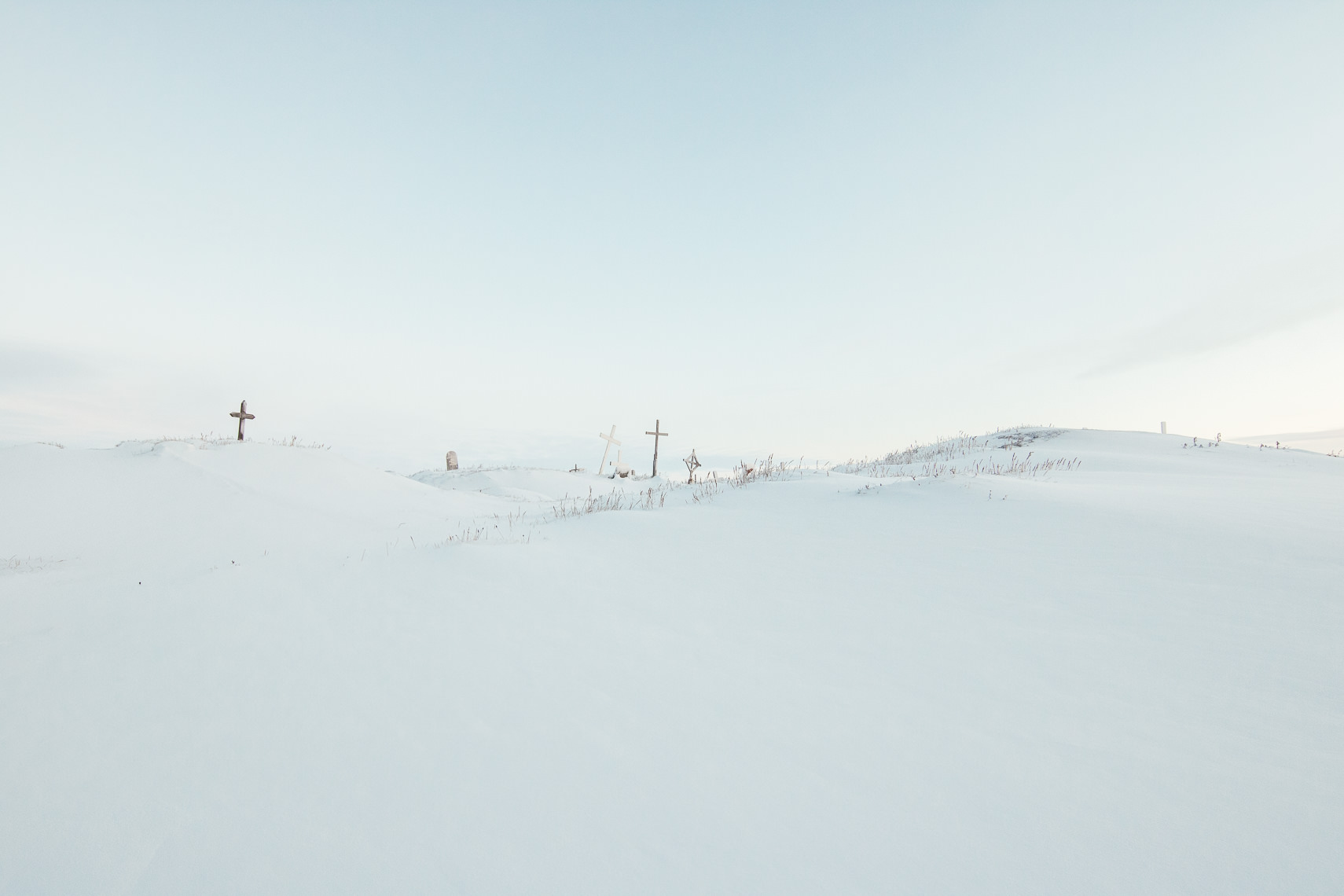 Utqiagvik Cemetery under Snow